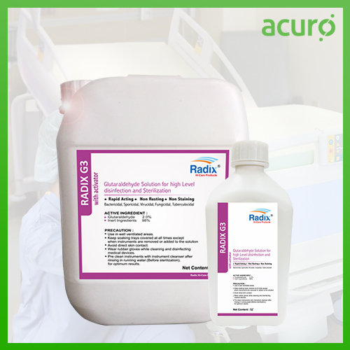 GLUTARALDEHYDE BASED DISINFECTANT WITH ACTIVATOR